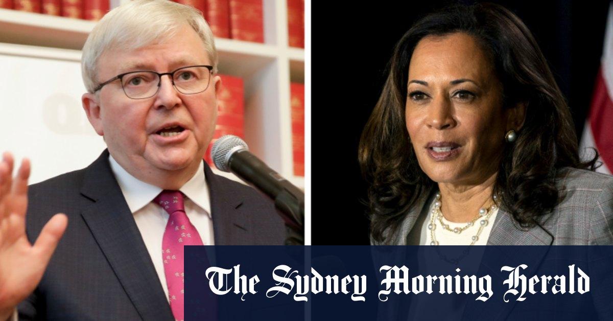 Kevin Rudd rages over controversial Kamala Harris cartoon – Sydney Morning Herald