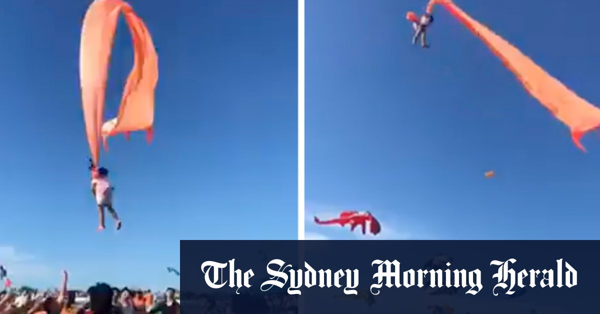 Three-old girl in Taiwan survives wild sky ride caught in tail of giant kite – Sydney Morning Herald