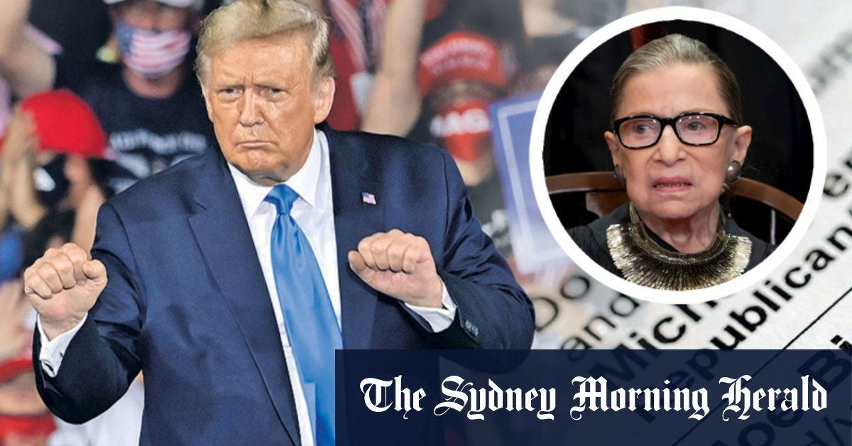 'Naked ballots' and Ginsburg's death set to collide in the US election – Sydney Morning Herald
