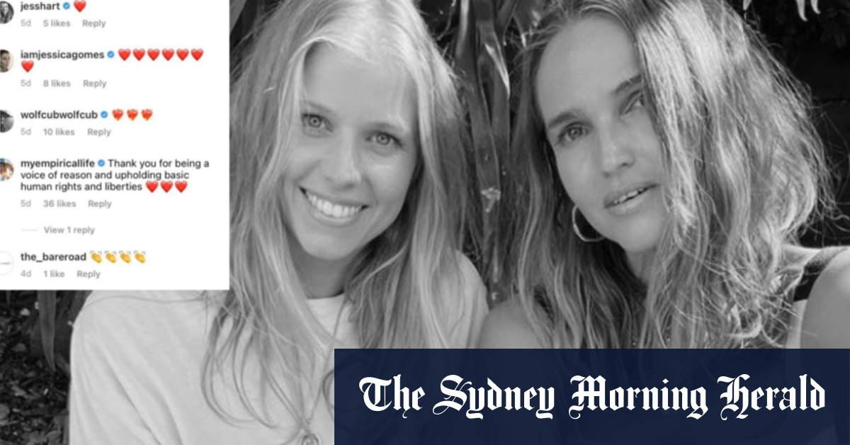 Celebrity models support Byron studio's controversial vaccination stance