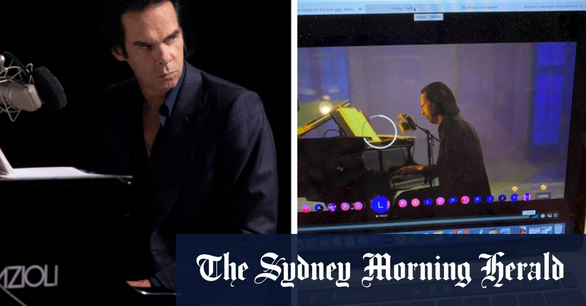Nick Cave's global streaming concert hit by technical issues – Sydney Morning Herald