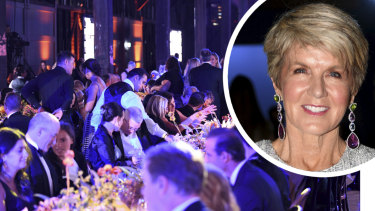 The organisers of the Gold Dinner reckon a date with Julie Bishop is priceless, but the former Foreign Minister is happy to leave it to the generosity of guests.