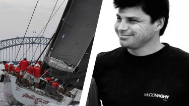 Wild Oats XI, one of the yatchs built by McConaghty Boats. Left: Jonathan Morris
