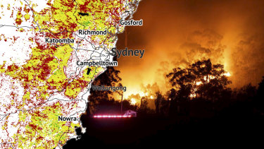 The Sydney region will enter spring primed for large bushfires after its third dry winter in a row, with maps showing moisture levels are below those in the run-up to the blazing 2013 season.
