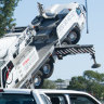 Crane rolls over on Hume business site