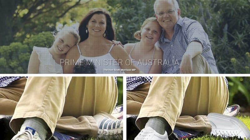 Image result for Scott Morrison shoe Photoshop