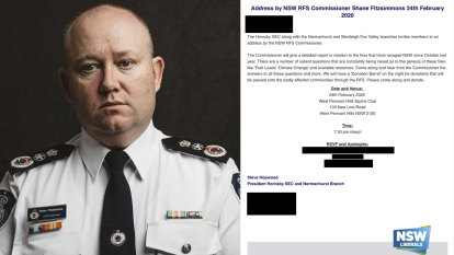 NSW fire chief cancels planned Liberal Party address