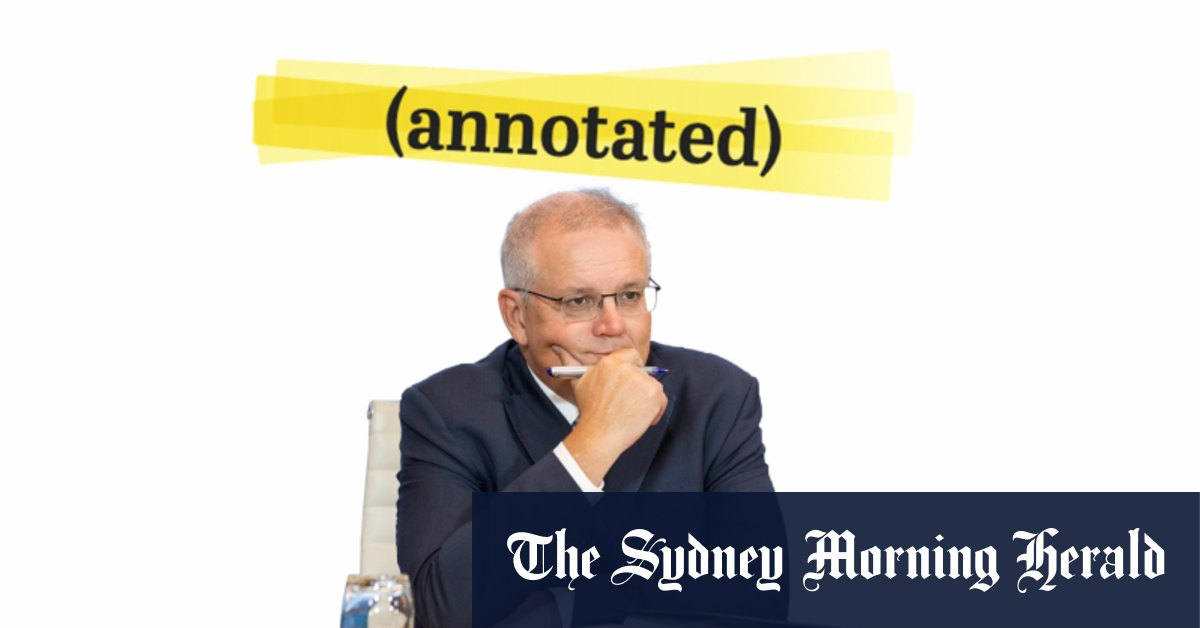 Climate Summit: Prime Minister Scott Morrison's speech annotated – The Sydney Morning Herald