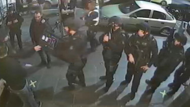 Victoria Police outside Inflation nightclub before the shooting.