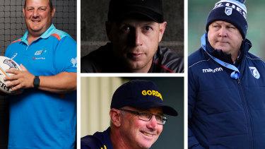 Clockwise from left: John Manenti, Simon Cron, John Mulvihill and Darren Coleman.