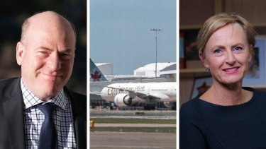 Composite image of Emirates (Brook Mitchell), Katie Allen (Wayne Taylor) and Trent Zimmerman (Alex Ellinghausen)