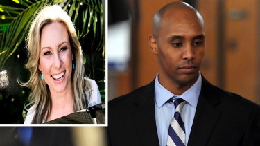 Composite of Justine Damond and Mohamed Noor (Photos both AP)