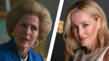 Gillian Anderson won bestsupporting actress in a drama series at the Emmy Awards for her portrayal of Margaret Thatcher in The Crown.