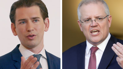 'Very different than in March': Sebastian Kurz, Morrison's unlikely new ally, looks to second wave