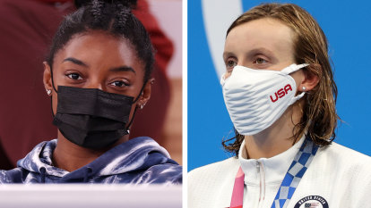 'A blessing and a curse': Ledecky, Biles highlight cost of being the boss