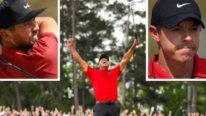 Day, McIlroy among PGA stars paying tribute to Woods' iconic outfit
