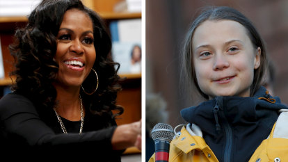 Michelle Obama tells Greta Thunberg to 'ignore the doubters' after Trump attack