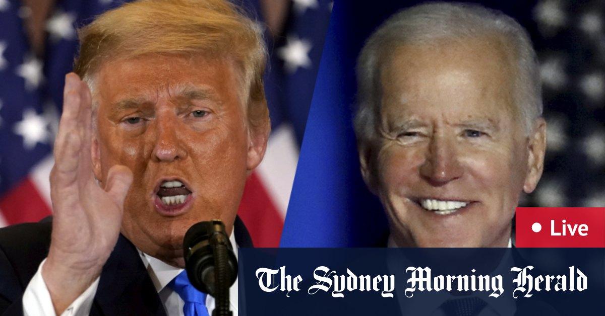 US election LIVE updates: Joe Biden edges ahead of Donald Trump in Pennsylvania Georgia; Nevada and North Carolina too close to call – The Sydney Morning Herald