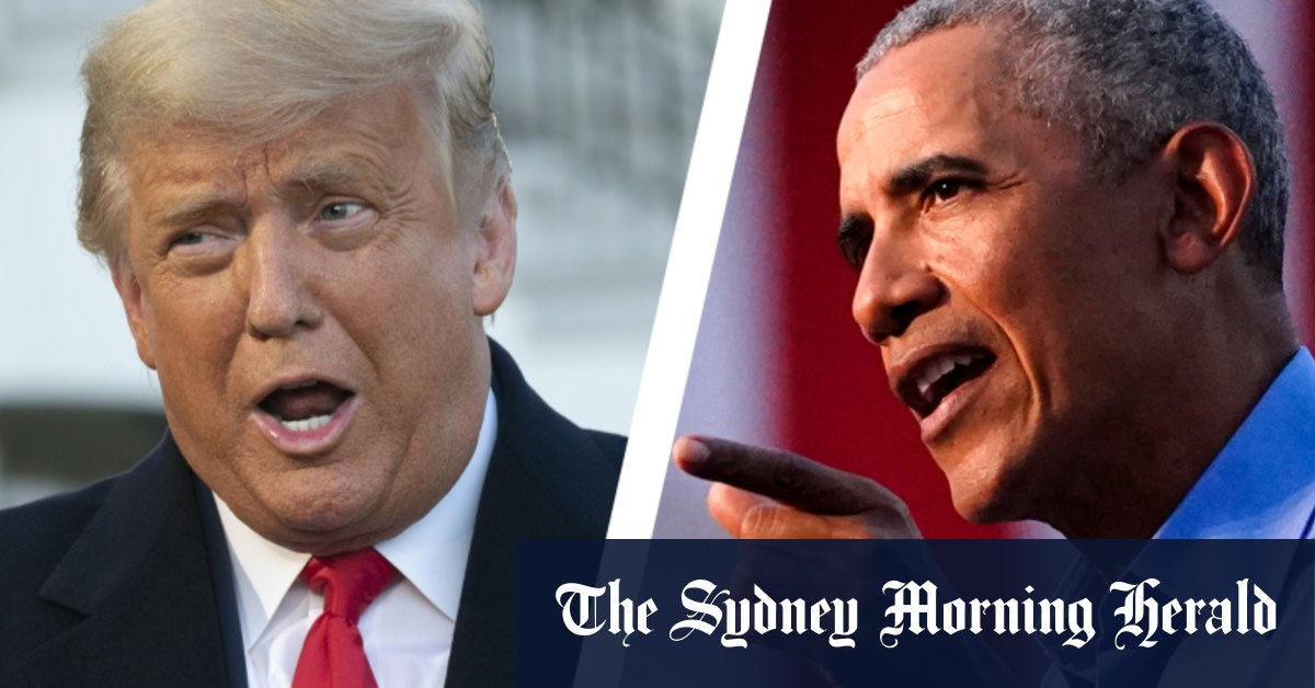 'He messed it up': Obama enters campaign with brutal Trump slap down – Sydney Morning Herald