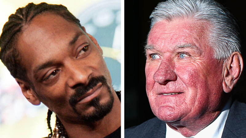 'He looked at me like I was some boofhead': The face-off between Ray Warren and Snoop Dogg on Qantas flight