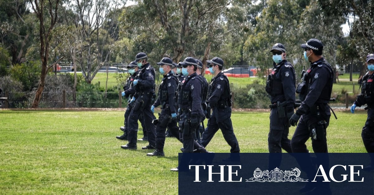 Sixteen arrests and 21 fines as protesters vow to go again on Sunday – The Age