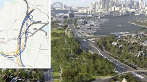 The proposed Rozelle Interchange