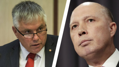 Dutton savages key Senate crossbencher in brawl over press freedom remarks
