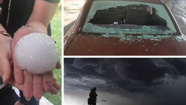 A huge hail storm with golf ball-sized hail smashed windows and battered roofs across Sydney in December.
