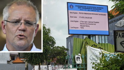 Scott Morrison slams 'deeply distressing' restaurant plan for Bali bombing site