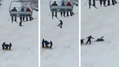Snowboarder plummets from Perisher chairlift