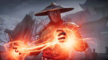 Raiden is back in Mortal Kombat 11, just as electrifying in battle as he is wooden outside of it.