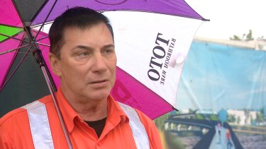 Tunneller and father of six Garry Vereb no longer has a job on the West Gate Tunnel.