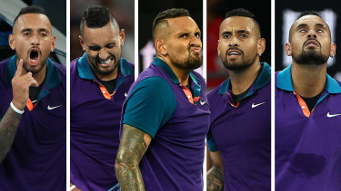 All of Nick Kyrgios's emotions were on show on Wednesday night.