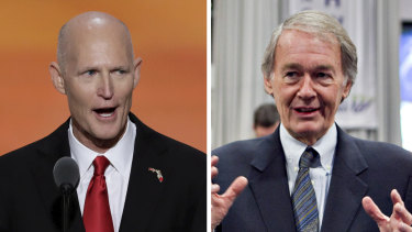 Republican Rick Scott (left) and Democrat Ed Markey.