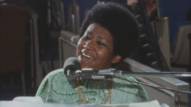 Aretha Franklin remained a calm centre in the recording.