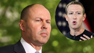 Treasurer Josh Frydenberg was given no warning of Facebook's shock move.