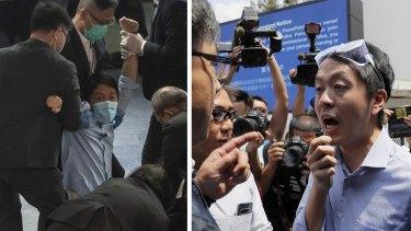 Exiled Hong Kong lawmaker Ted Hui.