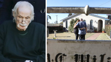 Left: Ivan Milat leaving hospital earlier this month. Right: Bill Milat with his wife Carol at their home in the Southern Highlands.