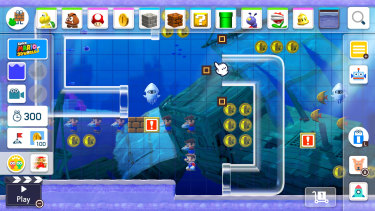 Placing clear pipes in the Super Mario 3D World style.