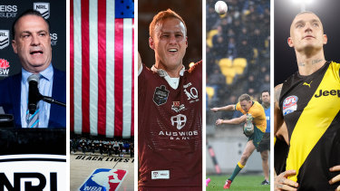 What a year ... Peter V'Landys saw the NRL back before most sports in the world; The NBA shut down, and brought racial justice protests to the fore; Queensland won State of Origin in front of a full stadium; The Wallabies and All Blacks played out an epic in Wellington; and Dustin Martin produced a grand final performance for the ages.
