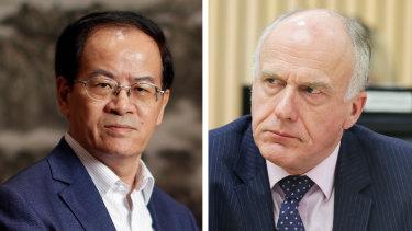 China's Ambassador in Canberra, Cheng Jingye and Senator Eric Abetz.