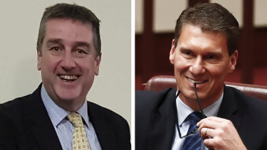 The Australian Conservatives' Riverina candidate Colin Taggart and his boss, Cory Bernardi.