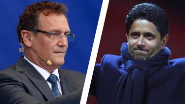 The former FIFA secretary general Jerome Valcke and Paris Saint-Germain president Nasser Al-Khelaifi have been indicted by Swiss prosecutors.
