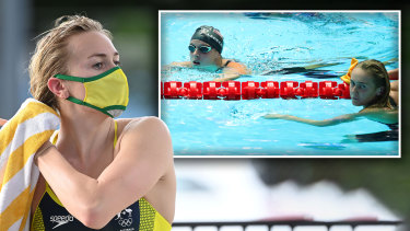 The clash between Ariarne Titmus (main) and Katie Ledecky (inset with Titmus at the 2019 World Championships) in the 400m at the Olympics will be one of the races of the Games.