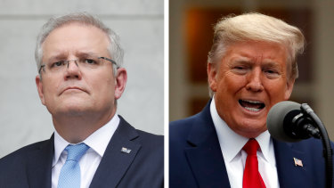 Donald Trump awarded Prime Minister Scott Morrison with the Legion of Merit.
