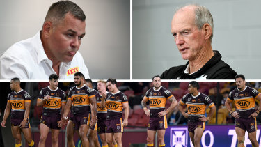 Anthony Seibold, Wayne Bennett and the battling Broncos.
