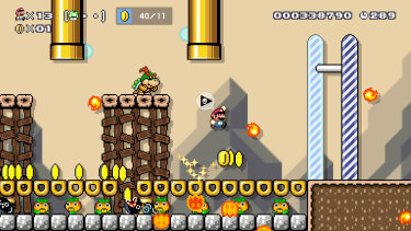 Boss fights can get very weird in Super Mario Maker 2.