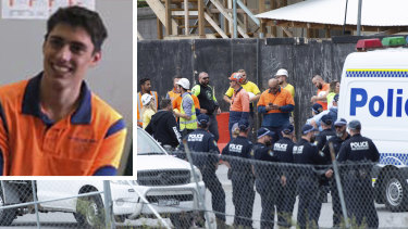 Christopher Cassaniti died after scaffolding collapsed on him at a construction site in Macquarie Park.