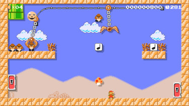 Claw grabbers can drop useful powerups, or bad guys, on your players, or pick up Mario himself.