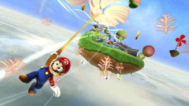 Mario becomes a bee, floats on a dandelion and saves the universe in Mario Galaxy.